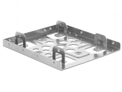 """Kit de instalare 2 x 2.5"""" HDD in bay 3.5"""" argintiu aluminiu, Delock 21333"""