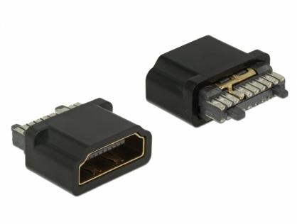 Conector de lipit HDMI-A mama, Delock 65885