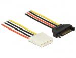 Cablu de alimentare SATA la Molex T-M 50cm, Delock 60137
