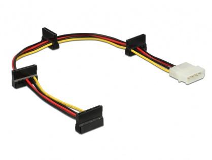 Cablu de alimentare Molex la 4 x SATA 15 pini 40cm, Delock 60142
