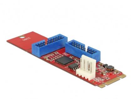 Adaptor M.2 Key B+M la 2 x USB 3.0 Pin Header, Delock 62843