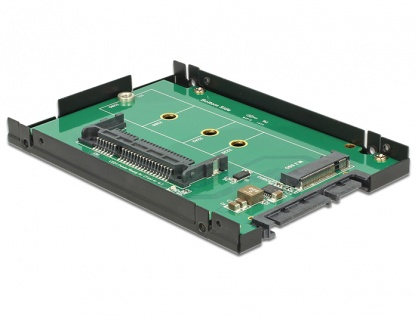 """Rack extern 2.5"""" SATA 22 pini la 1 x M.2 key B/ 1 x CFast 9.5mm, Delock 62944"""