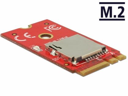 Adaptor M.2 Key A+E la 1 x Micro SD Card Slot, Delock 62979