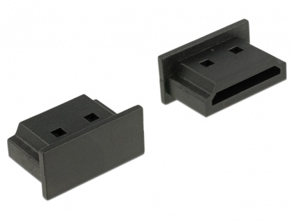 Protectie impotriva prafului pentru conector HDMI-A Negru set 10 buc, Delock 64030