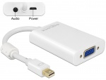 Adaptor mini Displayport la VGA + Audio + Alimentare Alb T-M, Delock 65599
