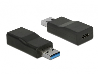 Adaptor SuperSpeed USB 3.1 tip A (host) la USB tip C (device) chipset TI T-M, Delock 65696