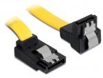 Cablu SATA III 6 Gb/s sus - jos cu fixare 30 cm, Delock 82820