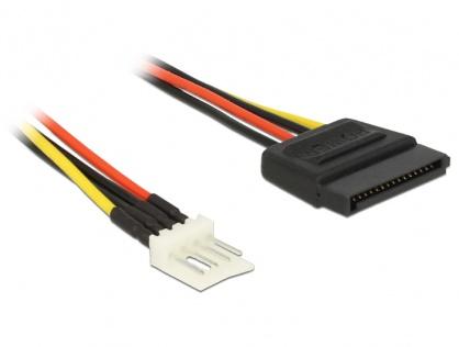 Cablu de alimentare SATA 15 pini la Floppy 4 pini 24cm M-T, Delock 83877