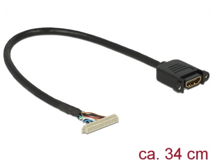 Cablu de conectare 40 pini 1.25 mm la 1 x HDMI pentru 95255/95256, Delock 84711