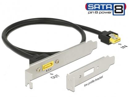 Slot bracket SATA 6 Gb/s la SATA de alimentare 8 pini 60cm, Delock 84950