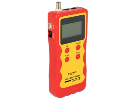 Tester LCD RJ45 / RJ12 / BNC / USB, Delock 86108