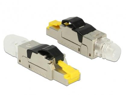 Conector de ansamblare RJ45 Cat.8 metal, Delock 86485