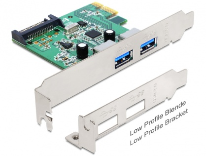 PCI Express x1 cu 2 x USB 3.0, Delock 89356