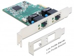 Placa retea PCI Express cu 2 x Gigabit LAN, Delock 89358