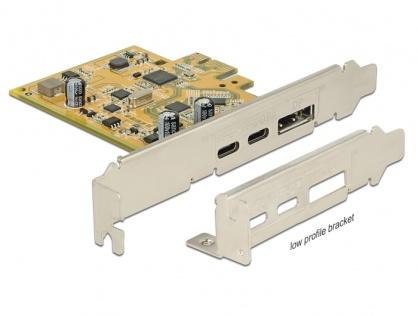 PCI Express Card la 1 x USB-C 3.1 + 1 x USB-C 3.1 (DP Alt Mode) externe, Delock 89582