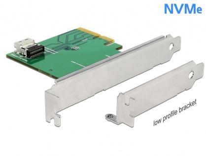 PCI Express x4 la 1 x SFF-8654 4i NVMe Low Profile Form Factor, Delock 89585