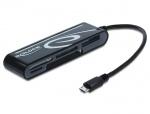 Cititor de carduri pe micro USB 2.0 OTG 6 sloturi, Delock 91732