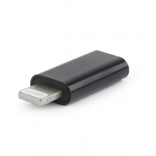Adaptor Lightning iPhone la USB-C T-M negru, Gembird A-USB-CF8PM-01