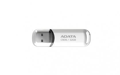 Stick USB 2.0 cu capac 32GB C906 Alb, ADATA