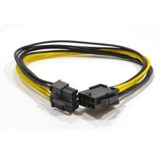 Cablu prelungitor PCI Express 8 pini (6+2) T-M 0.3m, Gembird CC-PSU-84