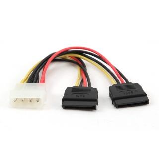 Cablu alimentare Molex la 2 x SATA 30cm, Gembird CC-SATA-PSY-0.3M