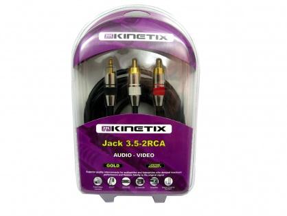 Cablu Jack 3.5mm la 2 x RCA T-T 3m, KTCBLHE17054