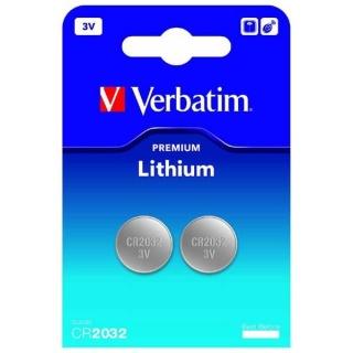 Set 2 x baterie CR2032 3V LITHIUM, Verbatim