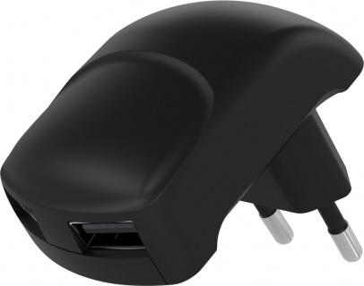 Incarcator priza 2 x USB 2.4A Negru, Goobay 59232