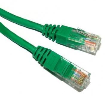 Cablu de retea UTP cat 5e 5m Verde, Spacer SP-PT-CAT5-5M-G