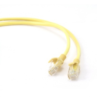 Cablu retea UTP Cat.5e 0.25m Galben, Gembird PP12-0.25M/Y