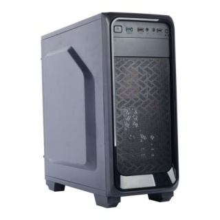 "CARCASA GAMING X2 ""DARK NIGHT"" ATX, front USB & audio, suport 4x 120mm fan, black, SPIRE X2-T1612B/W-2U3-2BL"