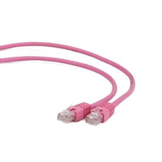 Cablu retea UTP Cat.5e 0.5m Roz, Gembird PP12-0.5M/RO