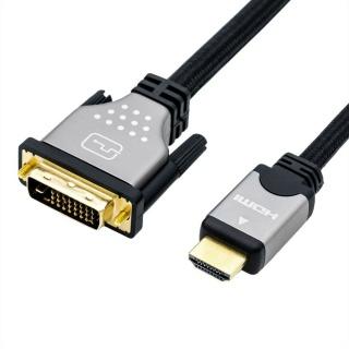 Cablu HDMI la DVI-D 24+1 pini T-T 1.5m, Roline 11.04.5876