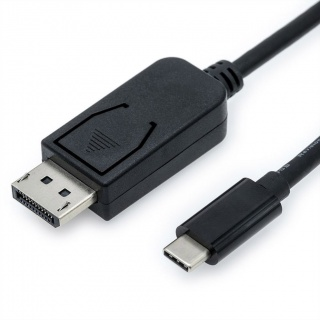 Cablu USB tip C la Displayport v1.2 4K T-T 1m Negru, Value 11.99.5845