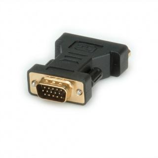 Adaptor VGA la DVI-I Dual Link 24+5pini la VGA T-M, Roline 12.03.3110