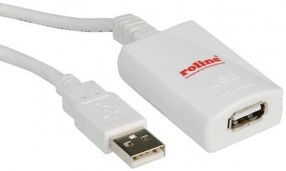 Cablu prelungitor USB 2.0 activ T-M 5m, Roline 12.04.1088