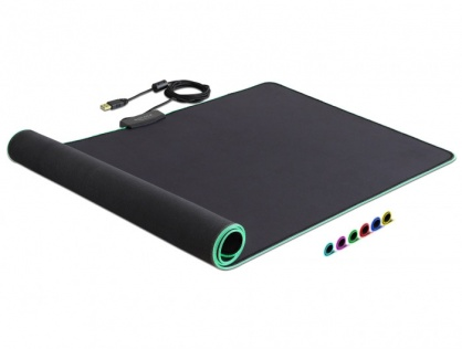 Mouse Pad 900 x 400 x 3 mm cu iluminare  RGB, Delock 12556