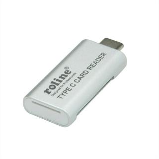 Cititor de carduri USB 3.0 tip C la SD/MicroSD, Roline 15.08.6259