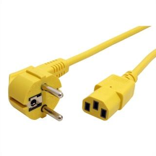 Cablu alimentare PC C13 1.8m Galben, Roline 19.08.1011