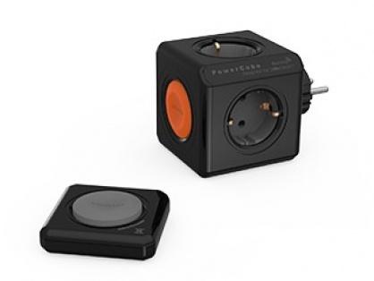 Fisa in forma de cub PowerCube 4 prize cu telecomanda Negru, Allocacoc