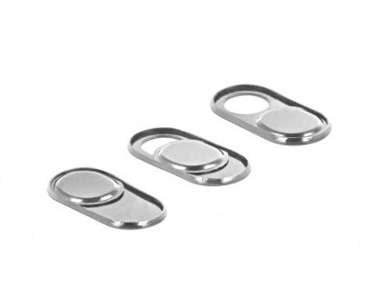 Set 3 bucati protectii camera pentru laptop/ smartphone/ tableta Silver, Delock 20656