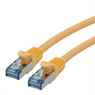 Cablu de retea S/FTP Cat.6A, Component Level, LSOH Galben 0.3m, Roline 21.15.2972