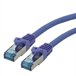 Cablu de retea S/FTP Cat.6A, Component Level, LSOH mov 15m, Roline 21.15.2938
