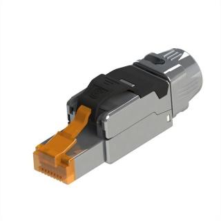 Conector RJ45 cat 8.1 pentru fir solid AWG 22 - 24, Roline 21.17.3086