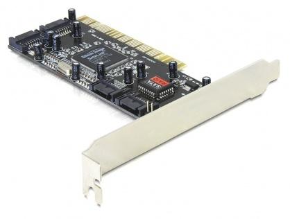 PCI la 4 x SATA cu RAID, Delock 70154