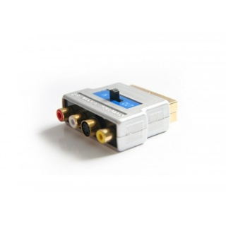 Adaptor GOLD Scart la 3 x RCA + S-video, KTCBLHE12029