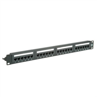 "Patch panel 19"" cat 6A 24 porturi UTP Negru, Value 26.99.0357"