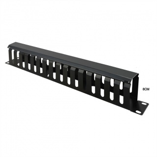 "Front Panel 19"" 1U cu organizator pentru cabluri 40x80mm RAL7035 Negru, Value 26.99.0306"