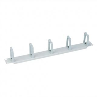 "Organizator cablu 19"" 1U 5 inele vertical/orizontal RAL7035 Gri deschis, Value 26.99.0311"
