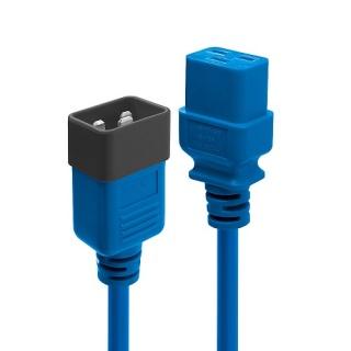 Cablu de alimentare IEC C19 la C20 1m Albastru, Lindy L30120